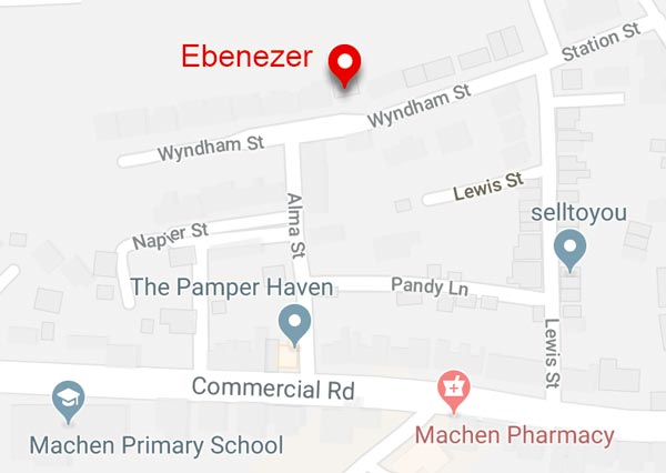 Map to Ebenezer Church